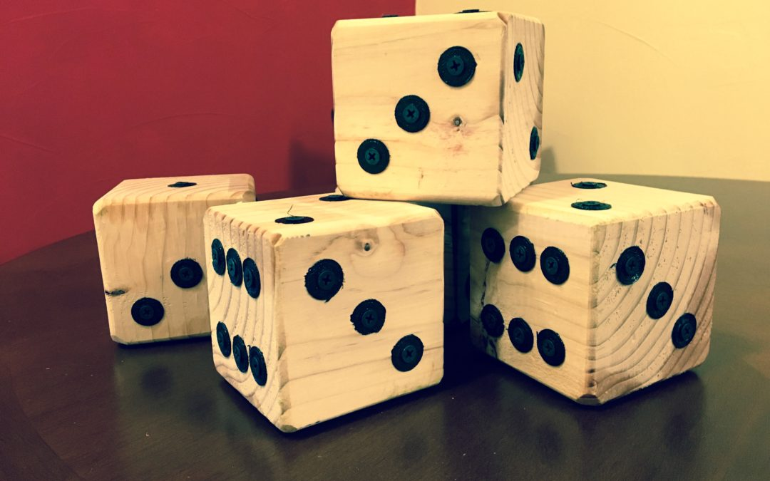 MAKE YOUR OWN LAWN DICE GAME