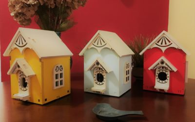 Bold and Colorful Birdhouses
